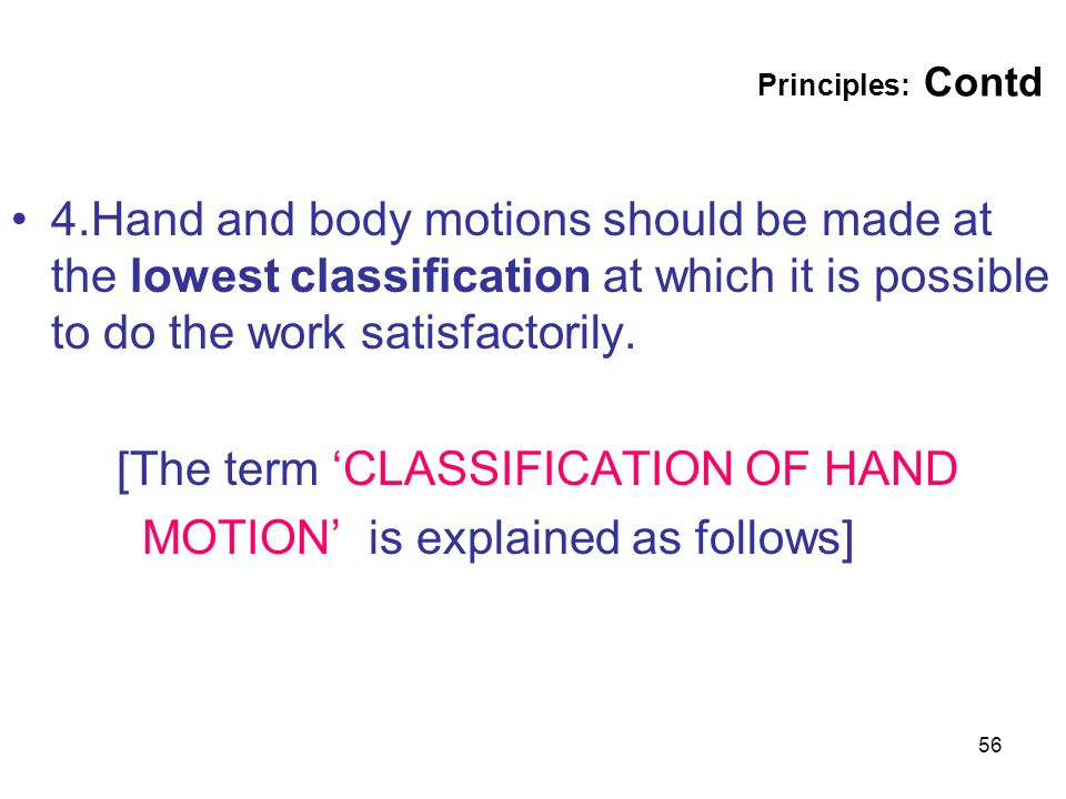[The term 'CLASSIFICATION OF HAND MOTION' is explained as follows]